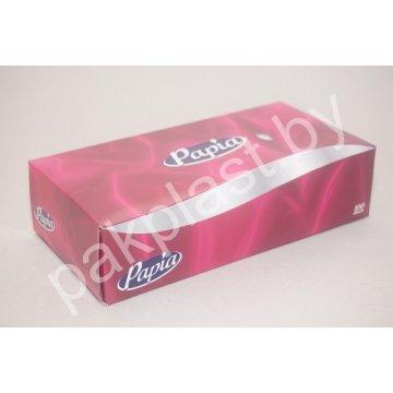 Салфетка для лица PAPIA 2-слойные, 100шт. в коробке