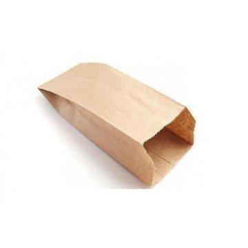 80х45х185мм. Пакет бумажный с плоским дном Крафт 40
