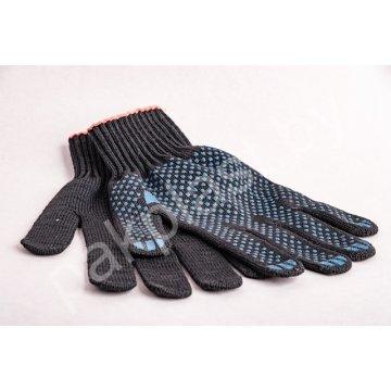 Перчатки рабочие ХБ с покрытием ПВХ пара (арт 52) черные
