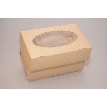 ECO MUF 2 Коробка DoECO с окном коричн/белый 100х160х100мм.
