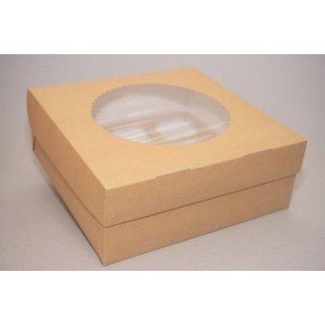 ECO MUF 6 Коробка DoECO с окном коричн/белый 250х170х100мм.