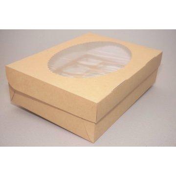 ECO MUF 12 Коробка DoECO с окном коричн/белый 330х250х100мм.