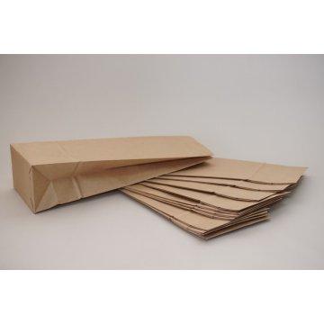Пакет бумажный на вынос 120х80х330мм. Крафт 70