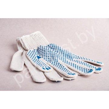 Перчатки рабочие ХБ с покрытием ПВХ пара (арт 52) белые