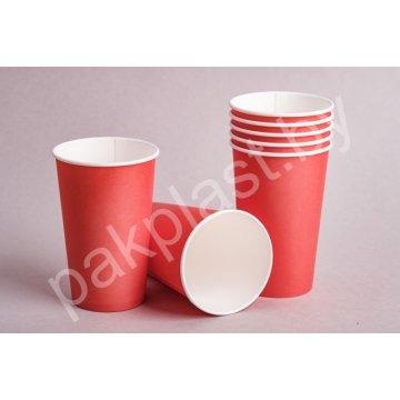 450/500мл. Стакан бумажный Красный (50шт./уп.) Д90мм.