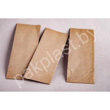 Пакет бумажный на вынос 80х50х230мм. Крафт 70