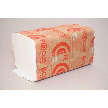 Полотенца бумажные V-СЛ FOCUS PREMIUM 2сл. 23х23см. (1упак.х200л.)