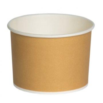 250/320 мл Контейнер-креманка бумажная для горячего Крафт