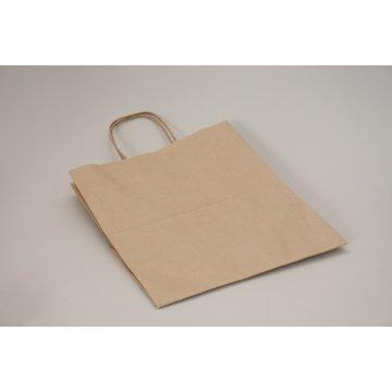Пакет бумажный с кручеными ручками 220х120х250 крафт 70