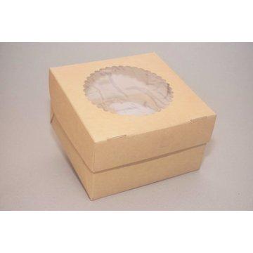 ECO MUF 4 Коробка DoECO с окном коричн/белый 160х160х100мм.
