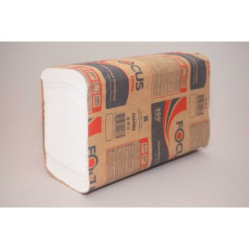 Полотенце бумажные Z-слож._1PLY_, FOCUS ECO, 24*21,5см 1сл.250шт (*12шт в кор.)