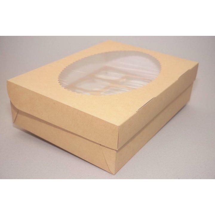 ECO MUF 12 Коробка с окном DoECO коричн/белый 330х250х100мм.