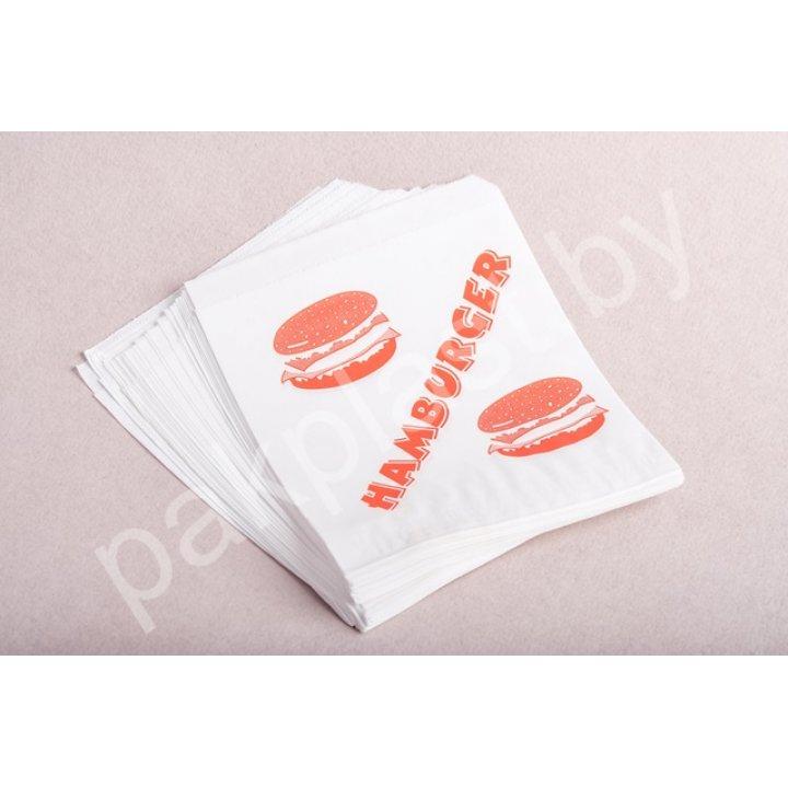 Упаковка бумажная: пакет с печатью Hamburger 1х500 шт. р.15*12