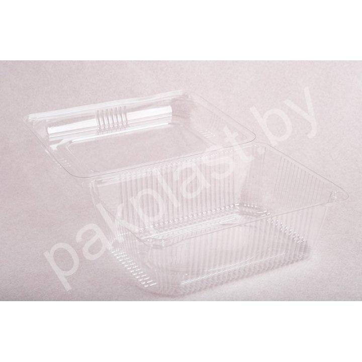 Контейнеры одноразовые пластиковые упаковочные УК-36-02, ПЭТ, прозр.ПЩ,-2,15