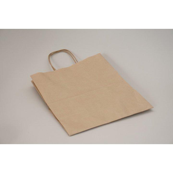 Пакет бумажный с кручеными ручками 220х120х250мм. Крафт 70