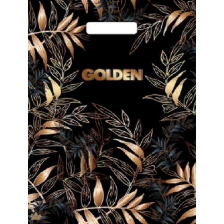 31х40+6 (30) Мешки (пакеты) с вырубной ручкой Тико глянец Золотой лес
