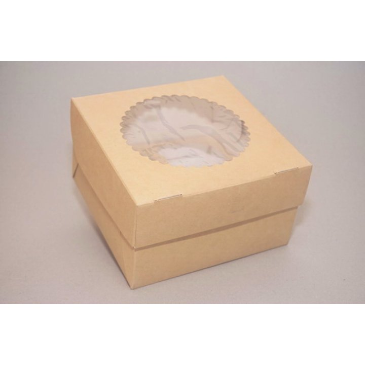 ECO MUF 4 Коробка с окном DoECO коричн/белый 160х160х100мм.