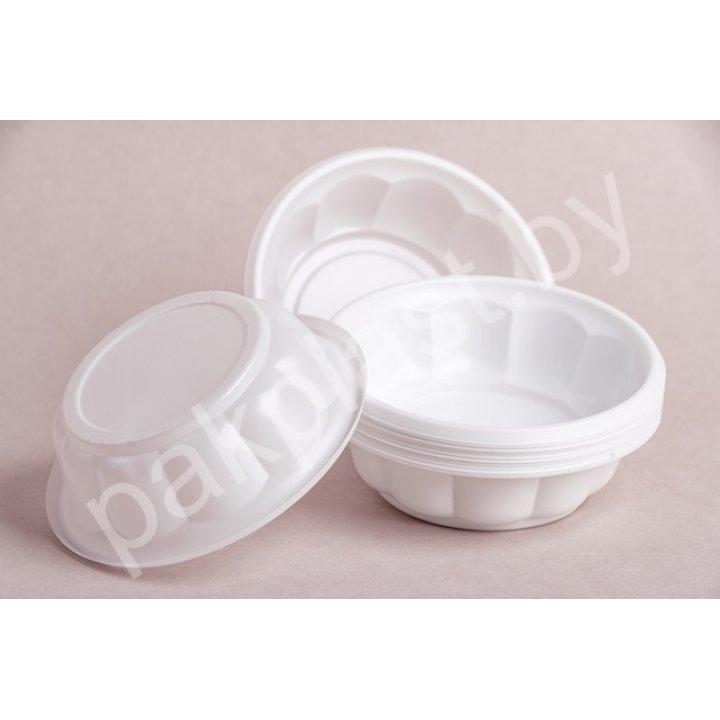 250мл. Тарелка Д115 (креманка Ромашка) Пластика
